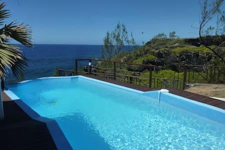 chambre dans villa avec piscine vue sur océan - Ravine des Cafres