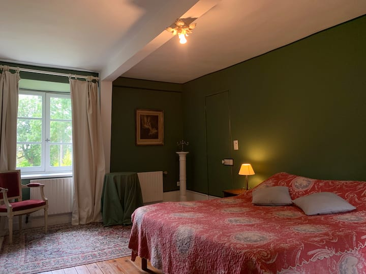 Chambre verte Manoir du XVIIIe Baie de Somme