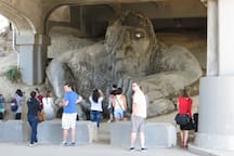 The Fremont Troll, the second most popular tourist attraction in Seattle after the Space Needle.