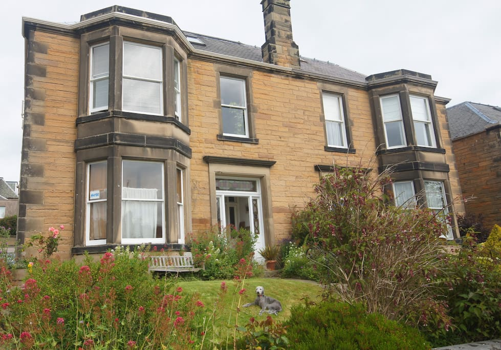 Our home is a traditional Edinburgh sandstone villa.