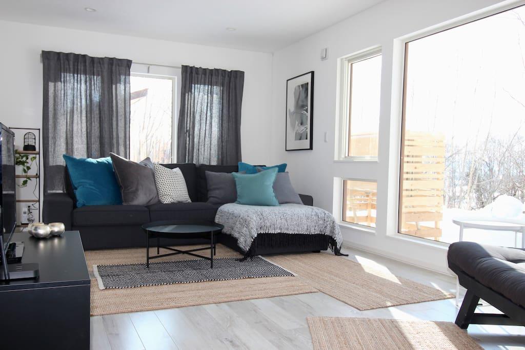 Large, comfy sofa