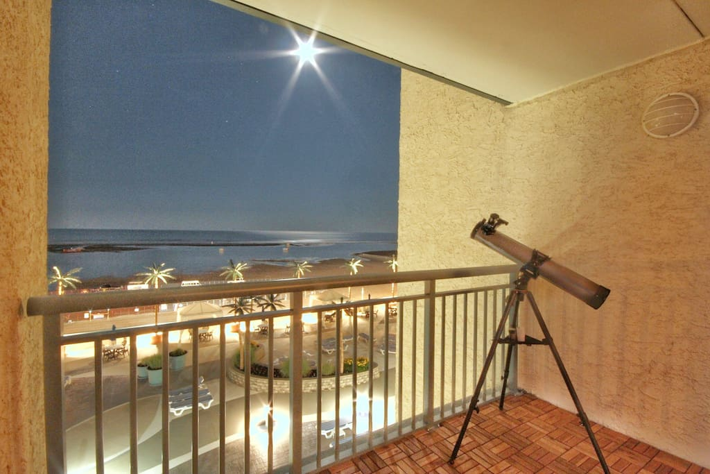 Nightly View from your Private Balcony