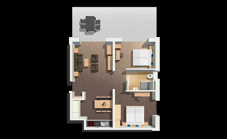 Exklusives, möbliertes 3 Zimmer Apartment.4