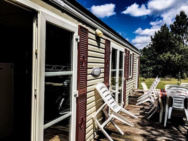Mobile-Home standing 4 places sur propriété boisée