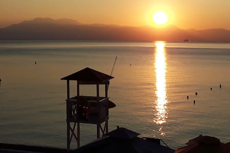 Liberty's Loutraki Beach Sunset