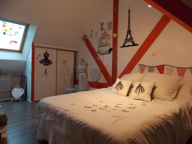 Simple chambre accueillante et au calme