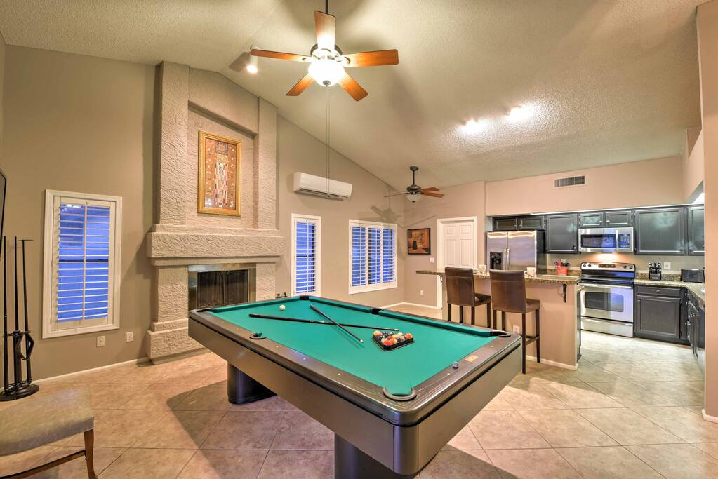 Modern amenities and plush furnishings comfortably accommodate 8 guests.