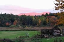 Our view from the porch. Mt. Greylock. Enjoy your morning coffee and breakfast with these views.