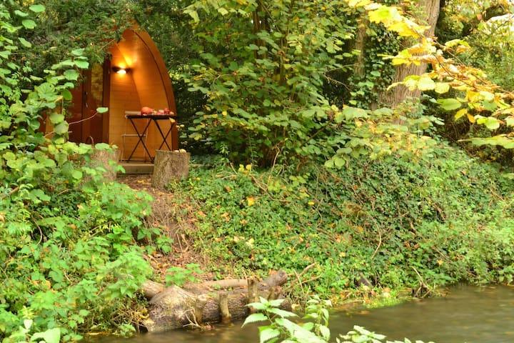Cabin-Pod on an island
