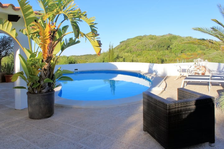 House with 3 bedrooms in Maó-Mahón, with wonderful sea view, private pool, furnished garden