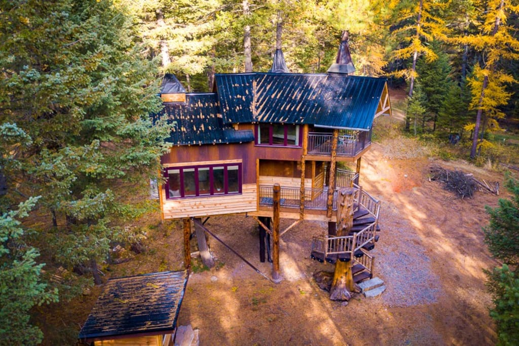 Aerial View of Treehouse