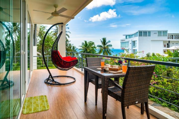 Amazing Seaview Pool Access Apartment @Karon-650m