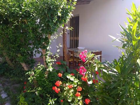 Bilocale a mare in casa con giardino