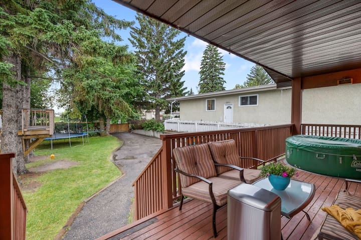 Large yard and private home in great location