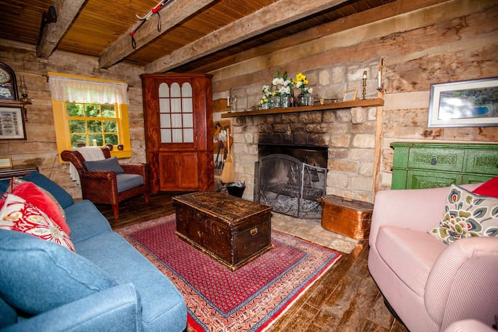 You'll be making memories in front of a cozy fire in the living room. Watch a little TV, play a board game or just stare at the fire and chill. Three comfortable chairs for friends/family and a sleeper sofa that folds out into a queen size bed.