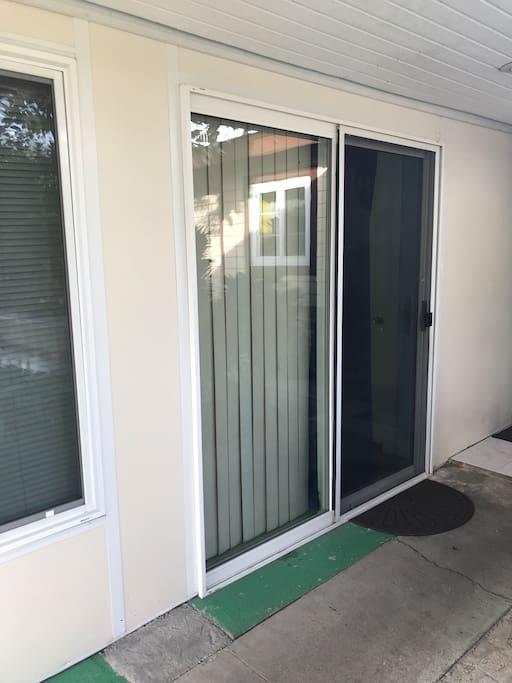 Private door entrance