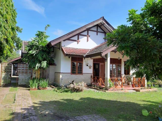 Homestay yang nyaman dan hijau di kota Pekanbaru