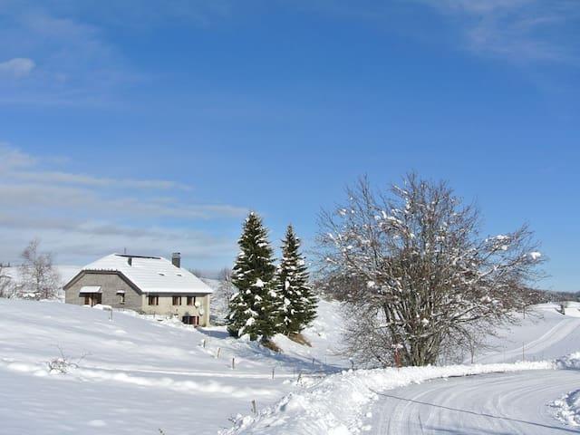 Appartement dans ferme d'alpage pied sentier,piste