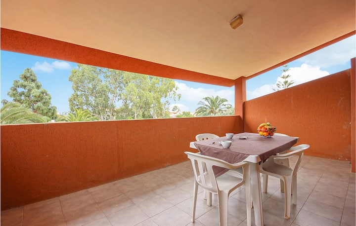 Stunning apartment in Costa Rei -CA- with 1 Bedrooms
