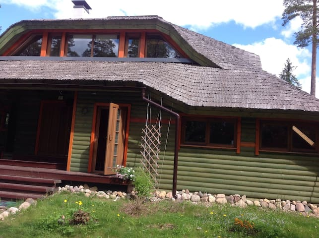 Studio-apartment in wooden house in eco village - Amata parish - Leilighet
