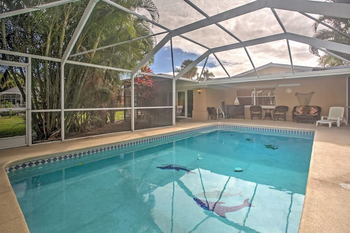 Canalside Cape Coral Home w/Private Pool - Pets OK