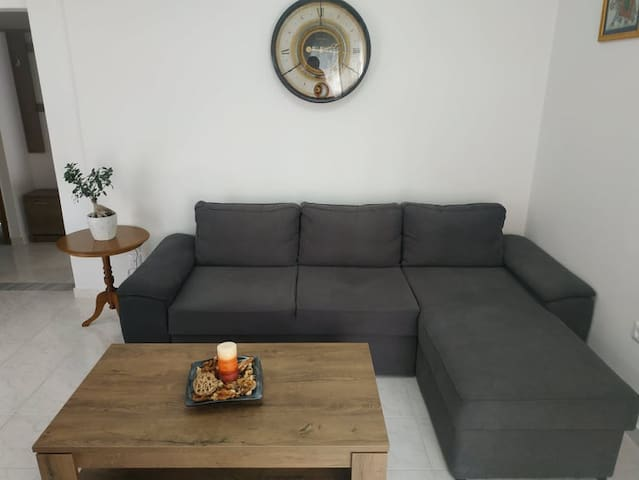 This cosy lounge can easily transform to an extra bedroom if needed. The sofa can become a comfortable double bed.