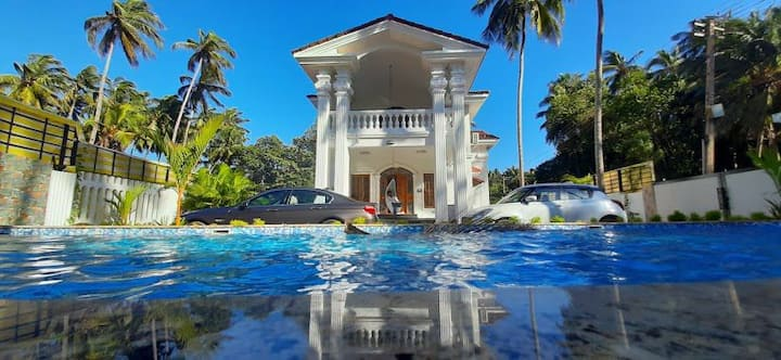 White House Morjim|Pvt Pool|wifi|Cook|beach