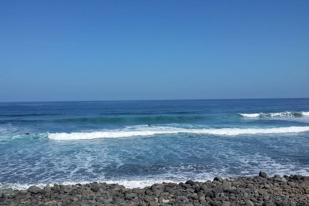Playa para practicar Sur.