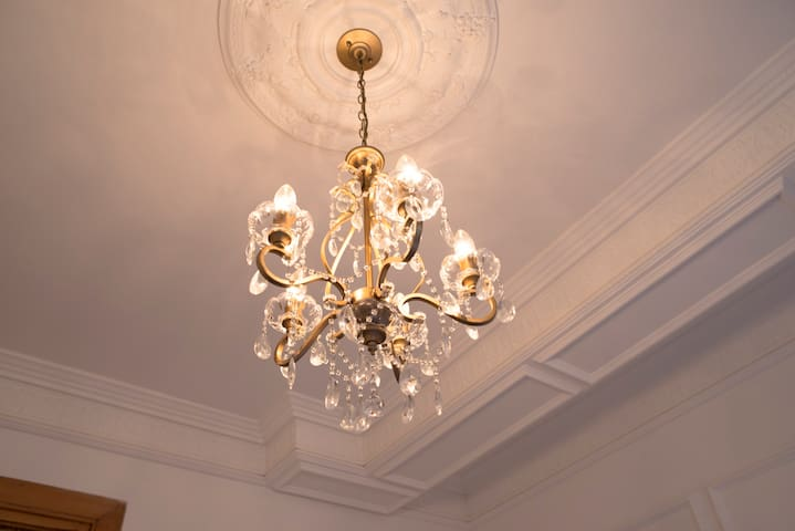 Original Laura Ashley chandelier, with variable lighting