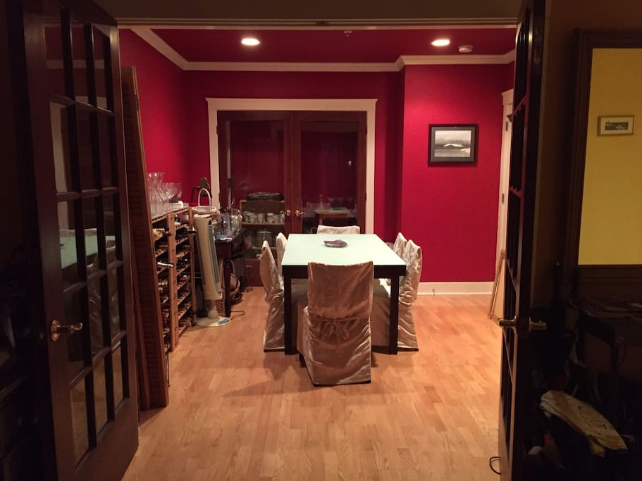 Formal Dining Room which can seat 8 people very comfortably.