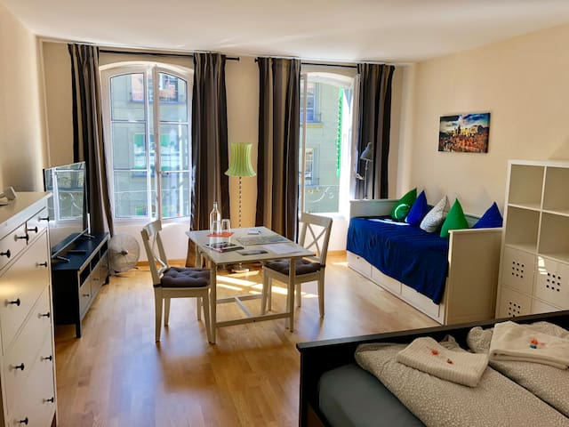 Large Sunny Room, Old Town, 3min to Bern station