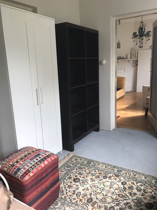 Lots of storage and closet space to store belongings comfortably for either short or longer visits