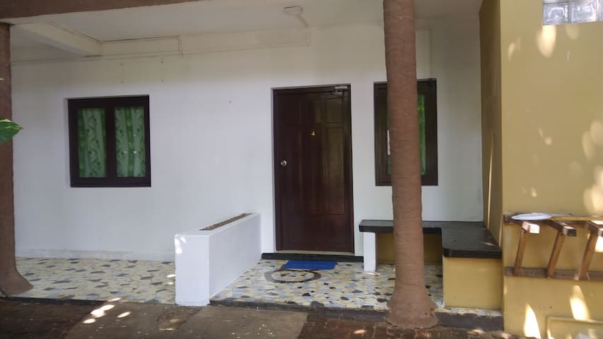 Front View of the Hostel Rooms