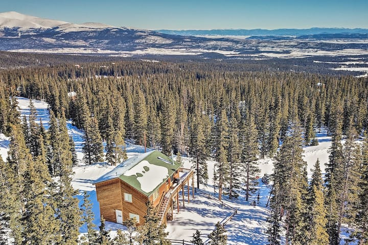 Secluded Cabin w/360 Mtn View 30 Min to Breck