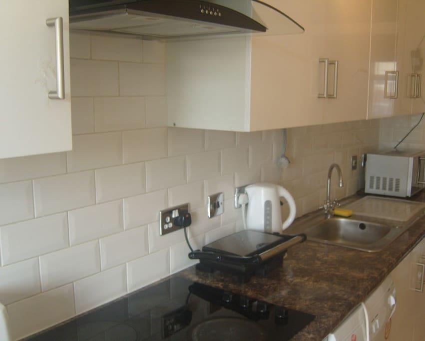 Modern Kitchen, 2 fridges and dishwasher