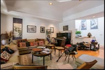 We welcome pianists to our living room - music room - live music may be heard up to 10:30 pm at night.