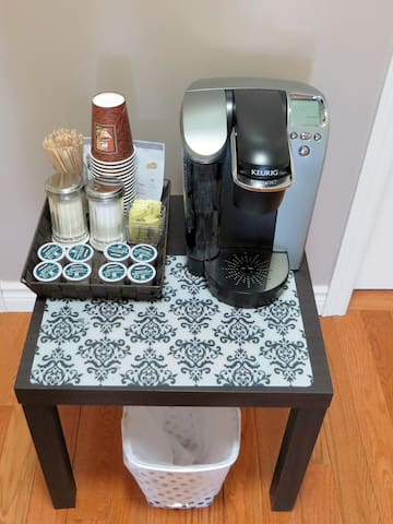 Gourmet coffee is available for guests thru out their stay.