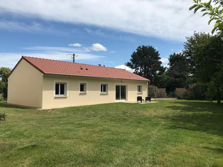 Maison neuve avec garage 200m du Der 6 couchages