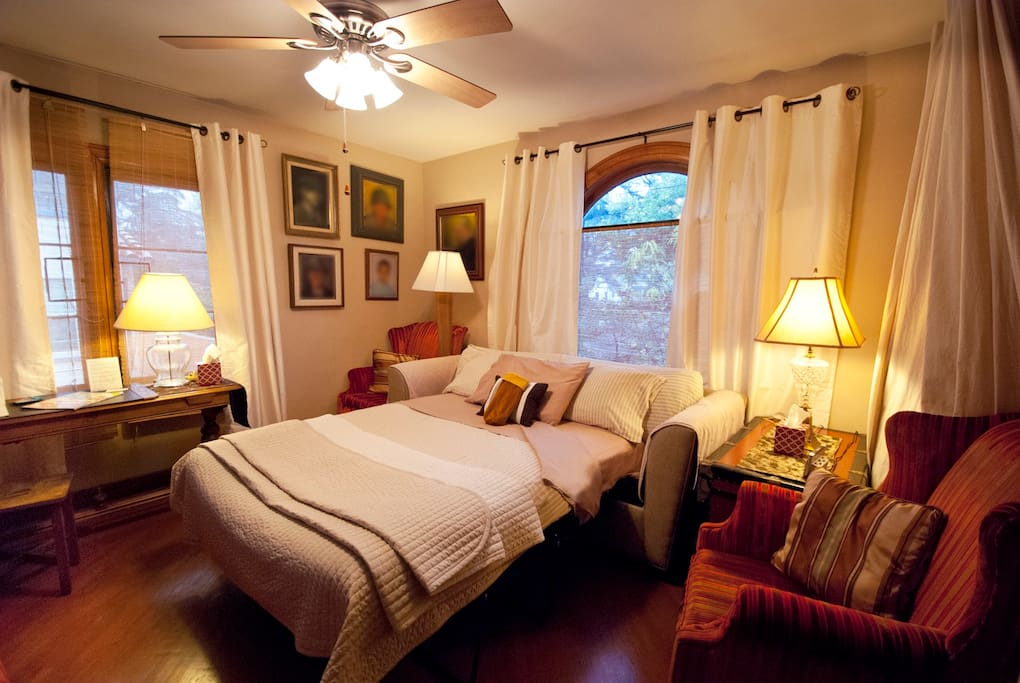 "This cozy room has everything you need. Guest Mimi who stayed in this cozy retreat says, ""You can't ask for more if you stay at Lia & Garry's place. It's just your home!! They are very helpful, kind & sweet."""