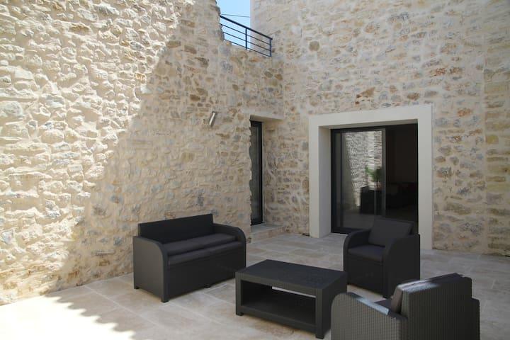 Maison avec piscine, patio près mer - Armissan
