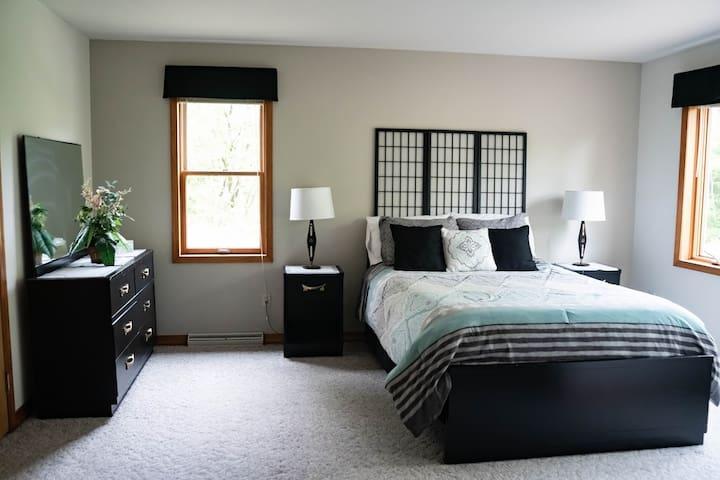 Master bedroom is on the main floor