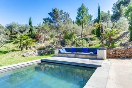 Art lover's villa set in nature - Beaurecueil - 别墅