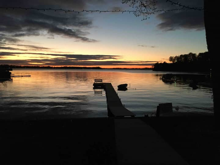 Sunsets & swimming at Gun Lake near Bay Pointe!
