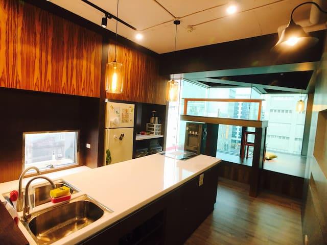 Mixed Dorm-Fashion Modern Kitchen, Soul of Hostel