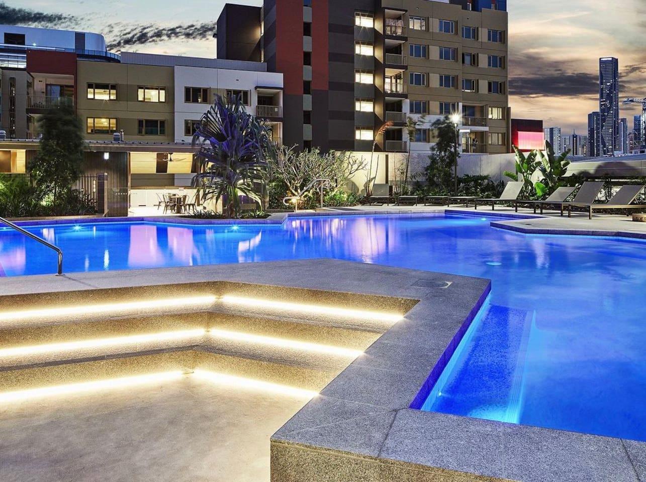 Resort-like swimming pool