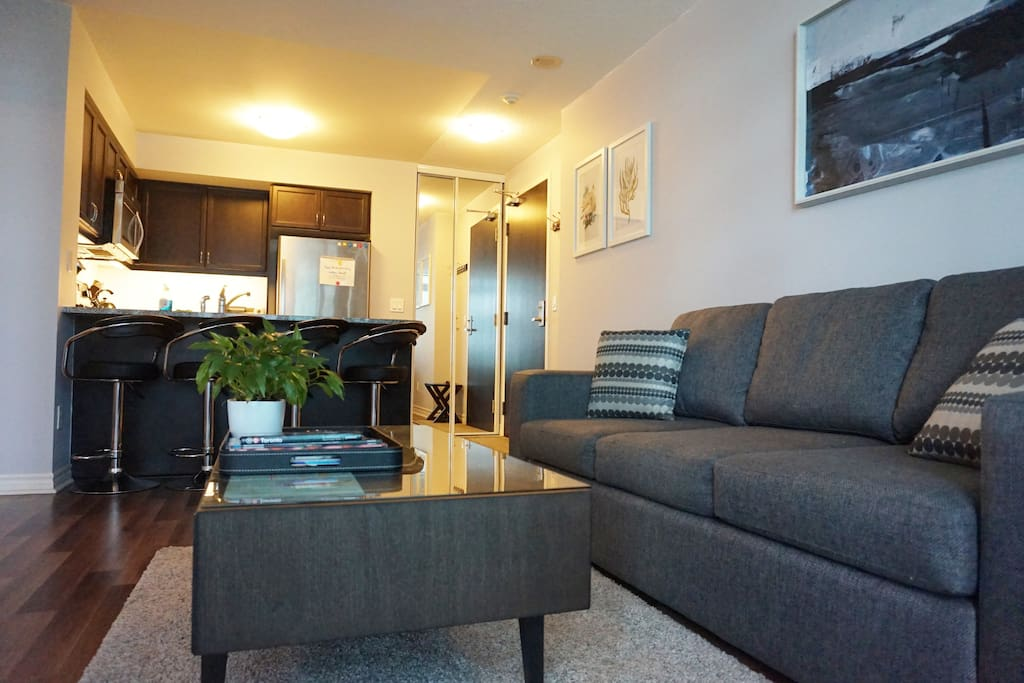 Spacious one bedroom downtown condo apartments for rent - One bedroom apartments in toronto ...