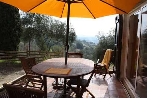 Cottage 2/4 P. 6km GRASSE sea view, pool, air cond