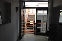 Easy access to roof deck