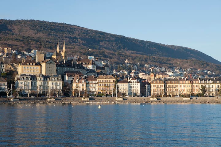 City centre with lake view - Neuchâtel - Apartamento