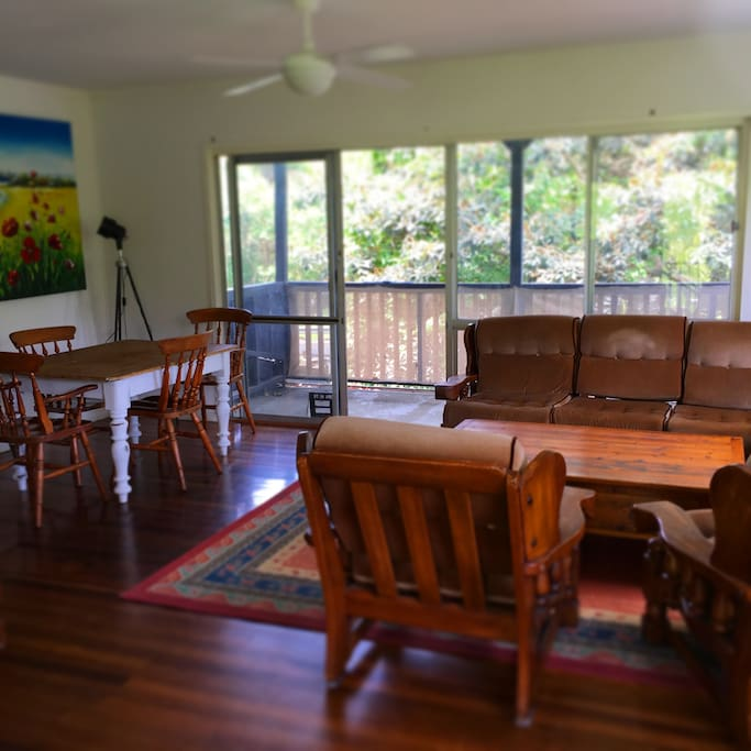 Lounge room and dining space